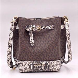 Michael Kors Emilia Bucket Bag Messenger Crossbody